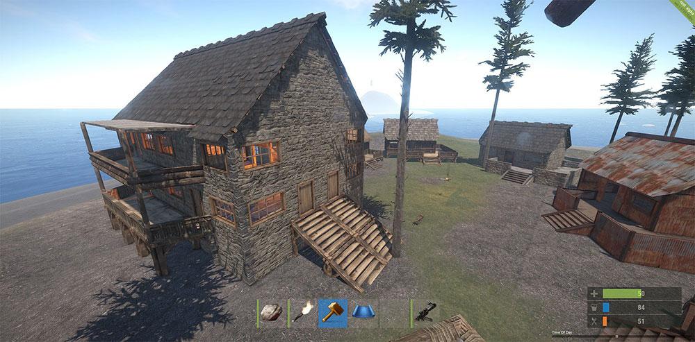 rust и домик