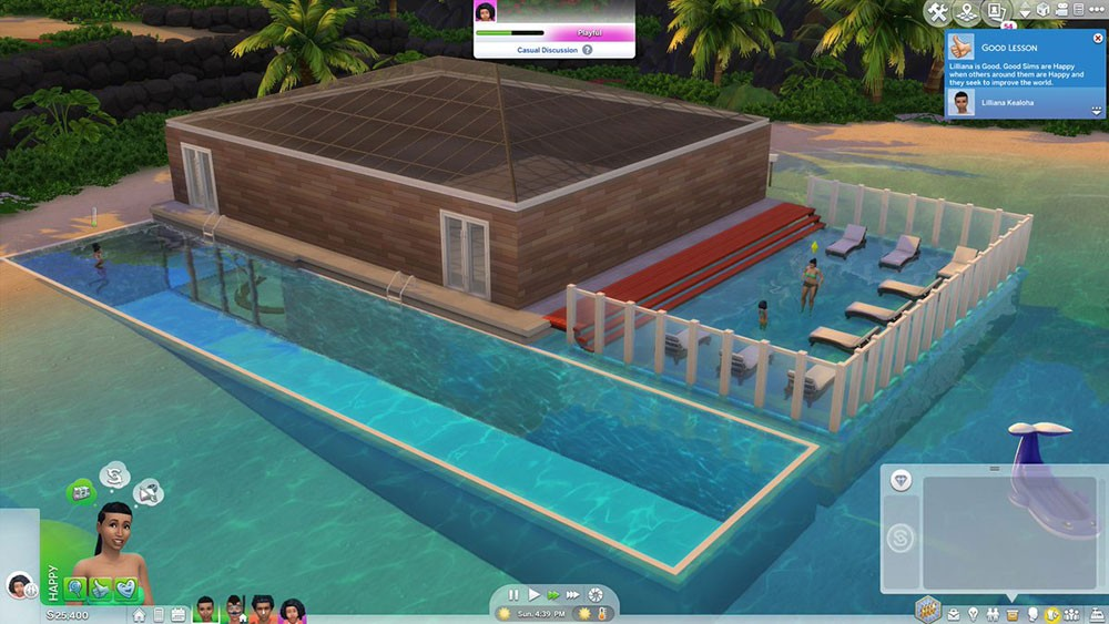 бассейн в игре