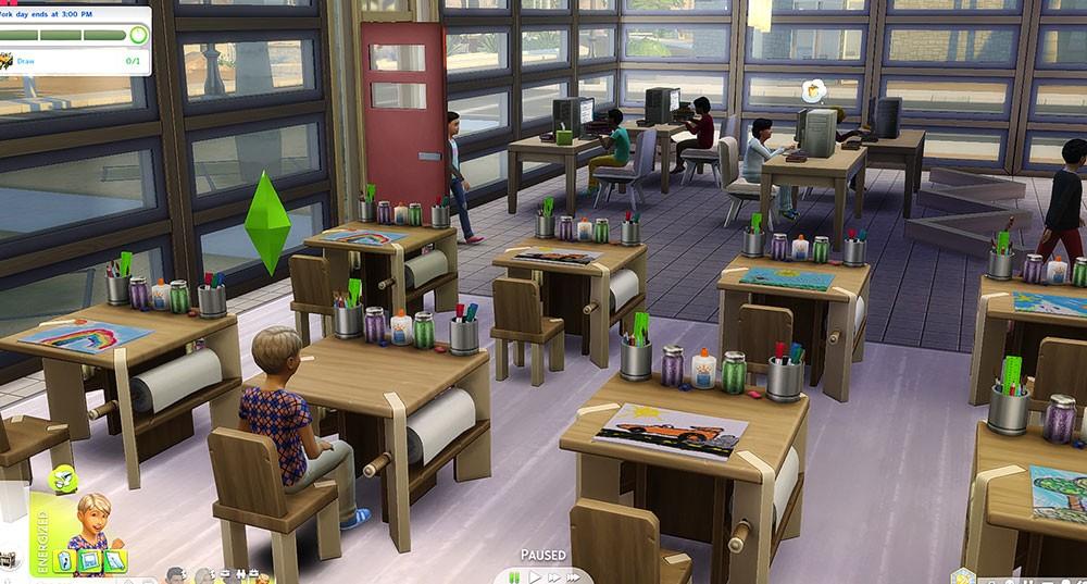 школа и мод для sims 4