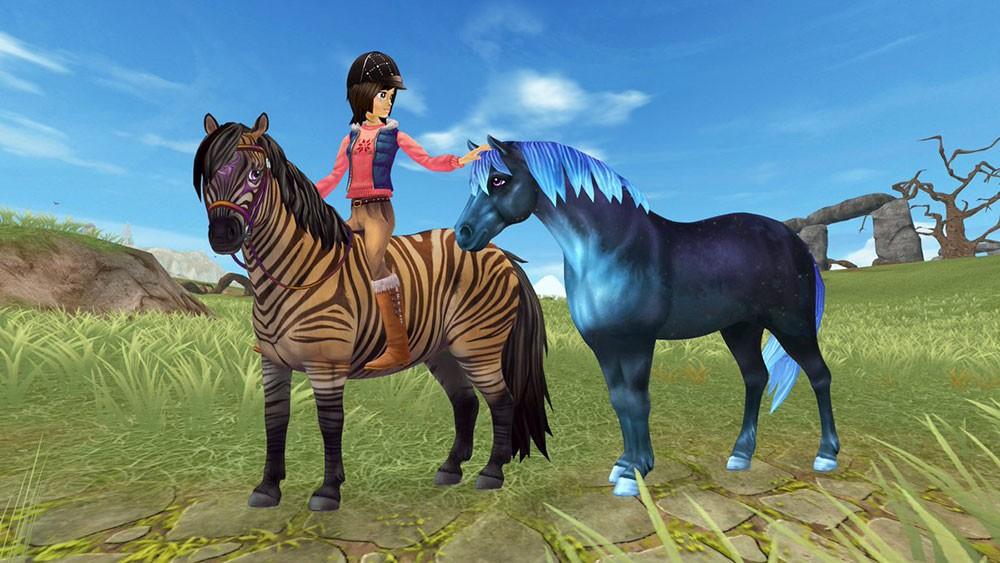 стейбл и лошадки